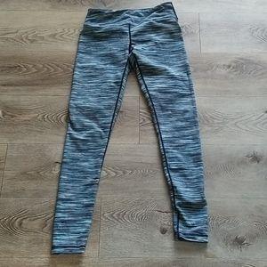 Zella Blue Horizontal Striped Yoga Leggings
